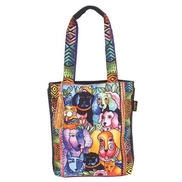 Laurel Burch Canine Clan Stacked N/S Shoulder Tote