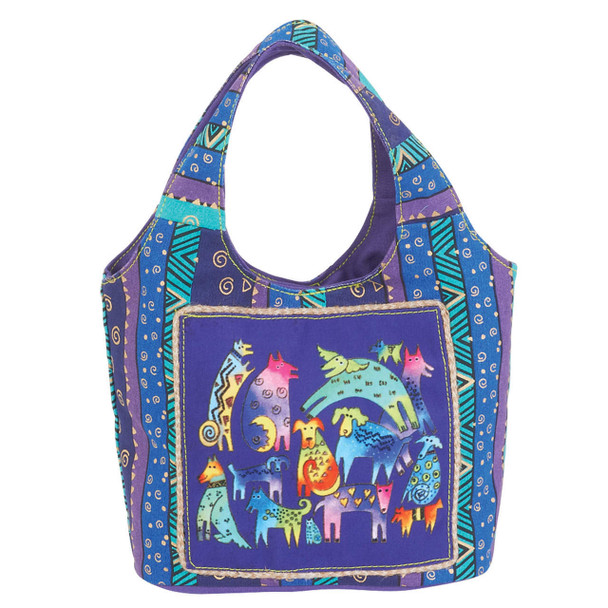 Laurel Burch Mythical Dogs Small Scoop Tote
