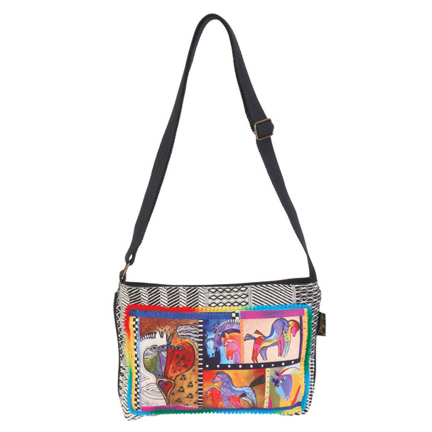 Laurel Burch Patchwork Horses Crossbody Tote