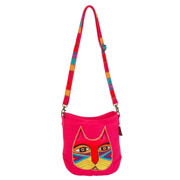 Laurel Burch Fuchsia Pink Feline Crossbody Bag LB6552A