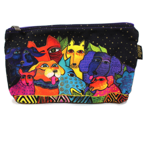 Laurel Burch Dog Canine Clan 10x6 Cosmetic Bags LB6556C