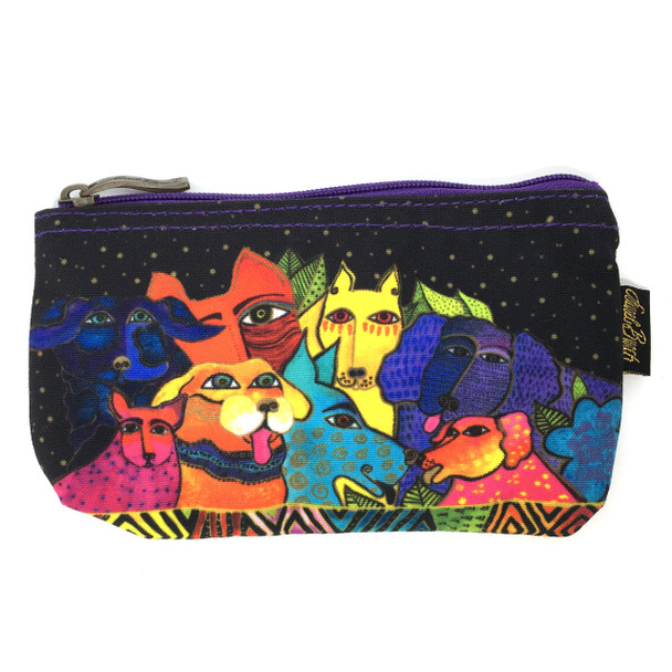 Laurel Burch Dog Canine Clan 7x4 Cosmetic Bag