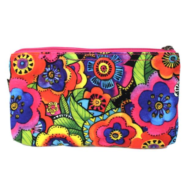 Laurel Burch Colorful Flowers 9x5 Cosmetic Bags LB6557B
