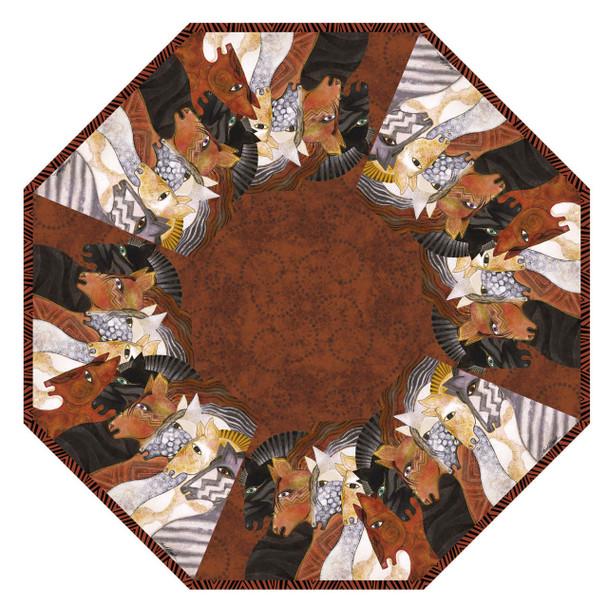 Laurel Burch Compact Folding Umbrella Moroccan Mares Horses LBU015A