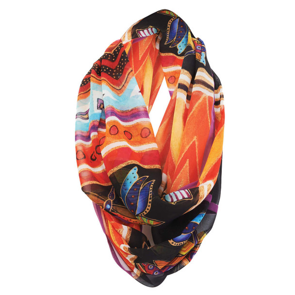 Laurel Burch Butterfly Tribe Artistic Infinity Scarf LBI214