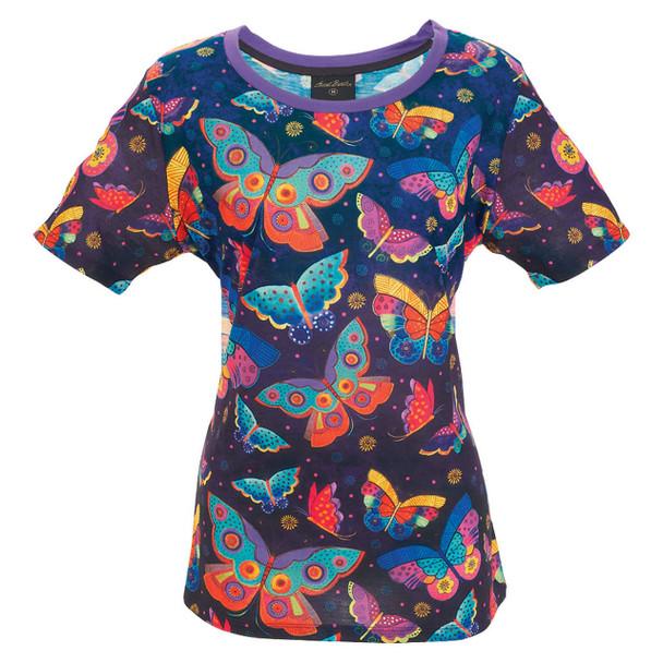Laurel Burch Tee Shirt Butterflies LBT058