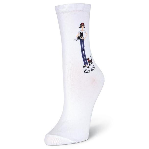Womens Cat Girl Sock - GRL-002