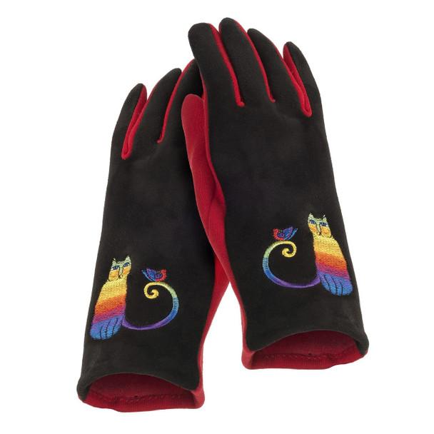 Laurel Burch Rainbow Cat Embroidered Glove