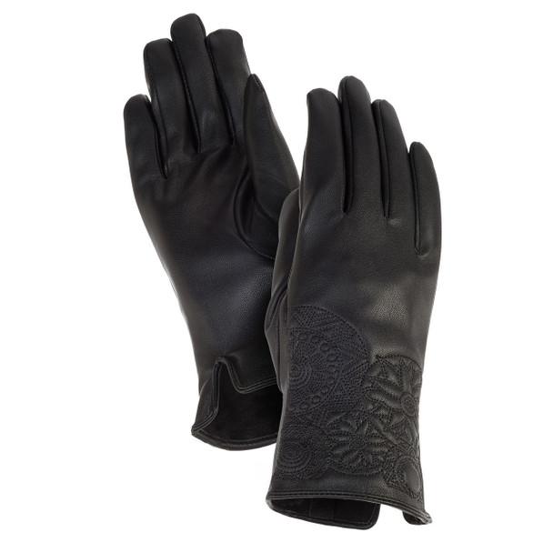 Laurel Burch Black Mandala Cuffed Gloves