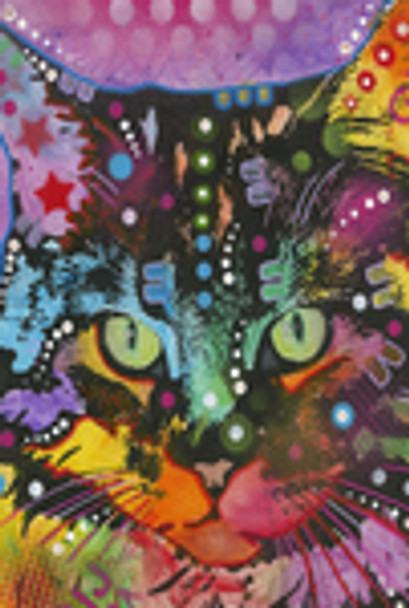 Colorful Neon Cat Garden Flag - 1110915
