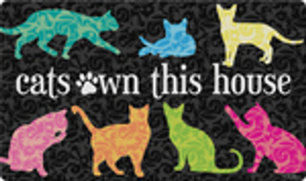 """Cats Own This House Floor Mat - 18""""x 30""""- 800428"""