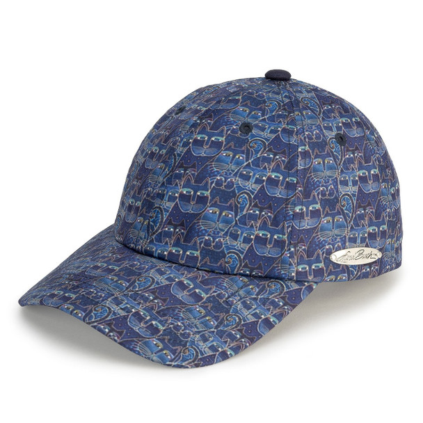 Laurel Burch - Indigo Cats Ball Cap - 30089