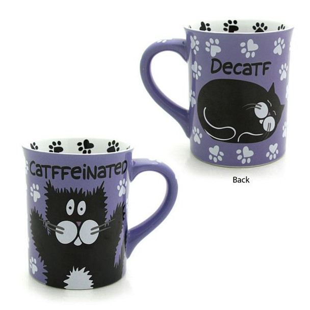 "Cat Theme Mug ""Catffeinated or Decatf"" - 4026111"