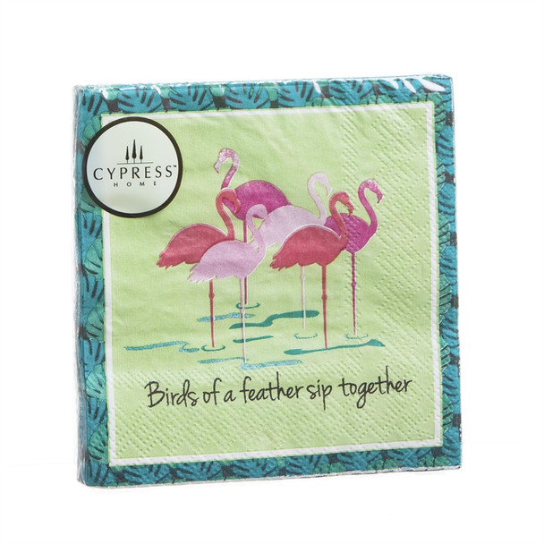 Flamingo - Birds of a Feather Sip Together - Paper Cocktail Napkin 4NC5409