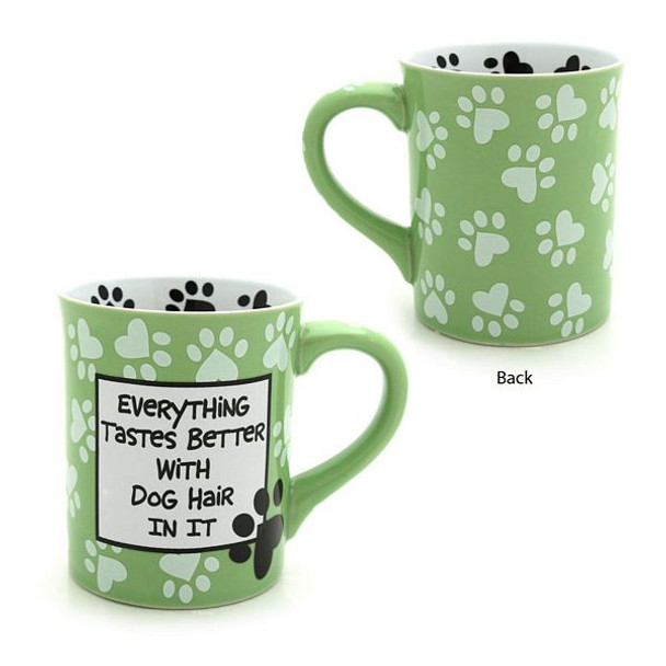 "Dog Theme Mug ""Everything Tastes Better with Dog Hair"" - 4026113"