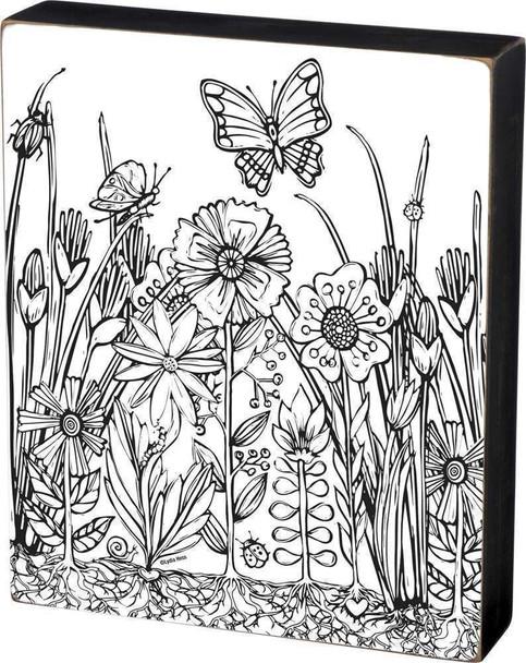 Garden Scene - Color a Sign Small