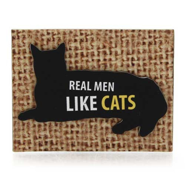 Real Men Like Cats Magnet 4039109