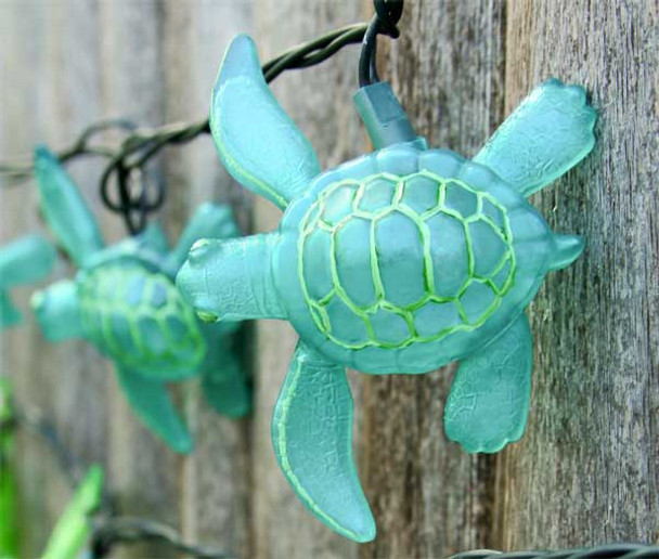 Aqua Sea Turtle String Lights 8.5' Long Strand 25255A