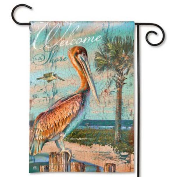 Pelican Beach Welcome Garden Flag 32316D