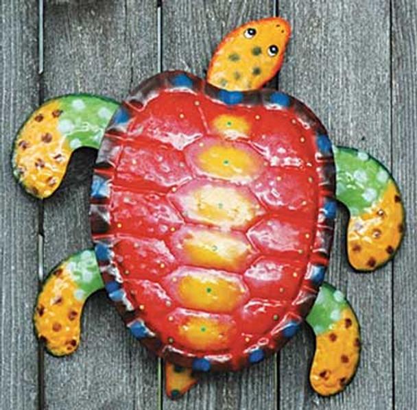 Red Sea Turtle Decorative Metal Wall Decor 42193R