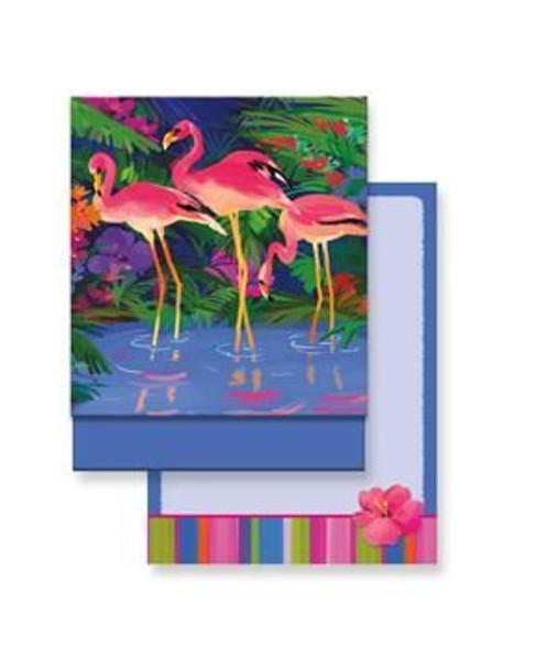 Pink Flamingo Paradise Matchbook Memo Notepad - 50-102