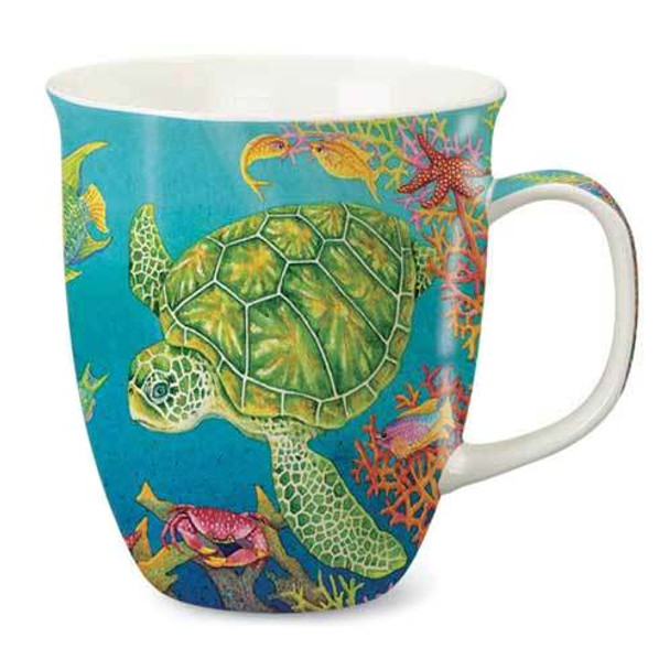 Harbor Sea Turtle Reef Ceramic Mug 818-42
