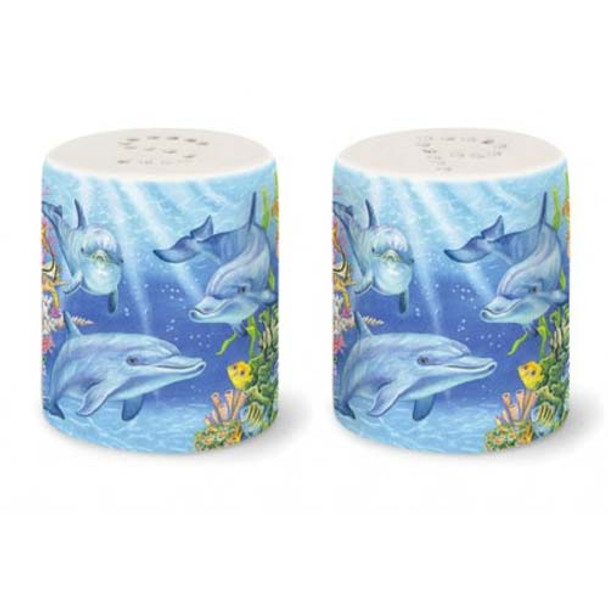 Dolphin Cove Ceramic Salt and Pepper Shakers 822-60