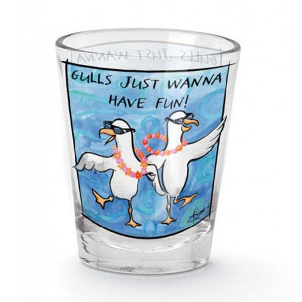 "Ladies Shot Glass ""Gulls Just Wanna Have Fun"" 849-05"
