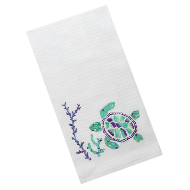 Sea Turtle Embroidered Kitchen Towel - 86100254A