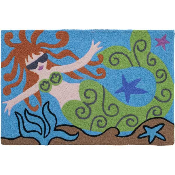 Cool Mermaid Rug Indoor Outdoor Washable JB-MW004