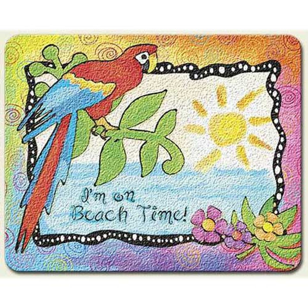"Parrot ""Paradise Found"" Glass Surface Saver Cutting Board Small - SM_CUT-819"