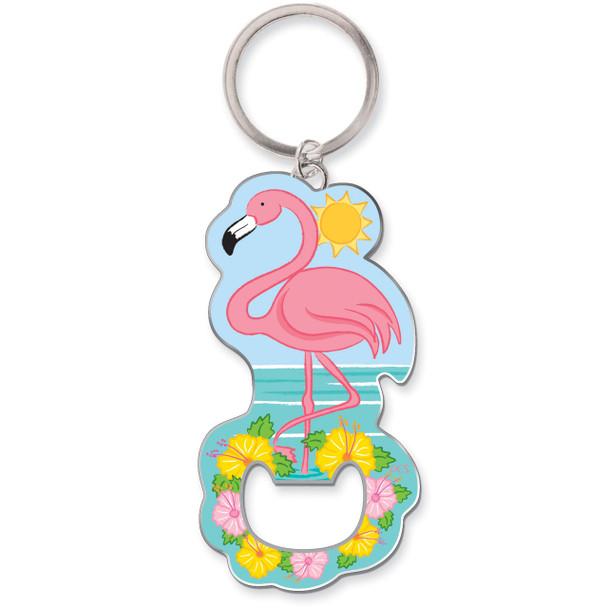 Pink Flamingo Keychain Bottle Opener 805-84