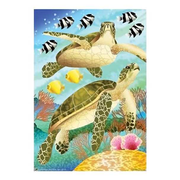 Beach Swimming Sea Turtles House Size Flag - JFL156L