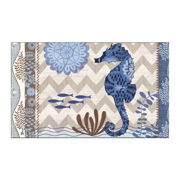 """Sea Horse Floor Mat - 18"""" x 30"""" - MatMates - 12097D"""