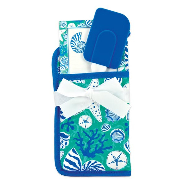 Shell Potholder with Note Pad and Kitchen Spatula - 50748