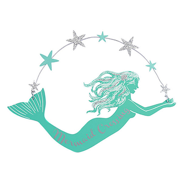 Mermaid Crossing Metal Sign - 25229C
