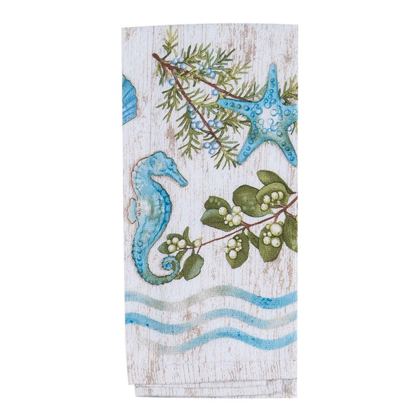 Starfish Seahorse Shells Terry Towel R3070