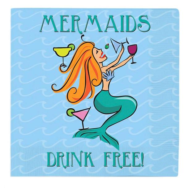 Mermaid Beverage Paper Cocktail Napkins 15-226