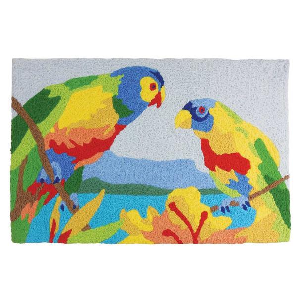 Tropical Parrots Rug Indoor Outdoor Washable JB-MC014