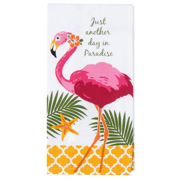 Paradise Flamingo Cotton Tea Towel - R402
