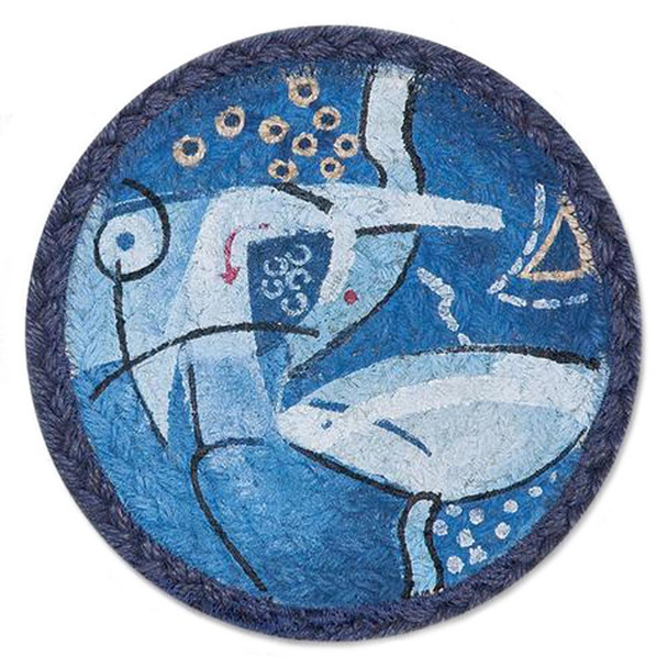 """Abstract Ocean Themed Trivet - SET OF TWO - 7"""" - A-02"""
