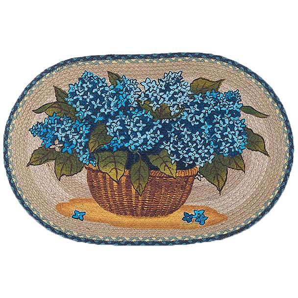 """Blue Hydrangea Rug 20""""x30"""" by Earth Rugs"""
