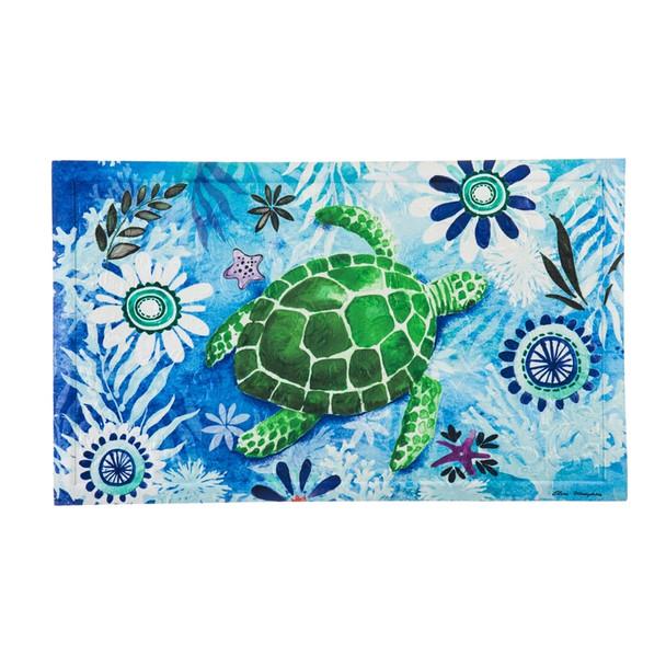 Sea Turtle Embossed Floor Mat 41EM2317