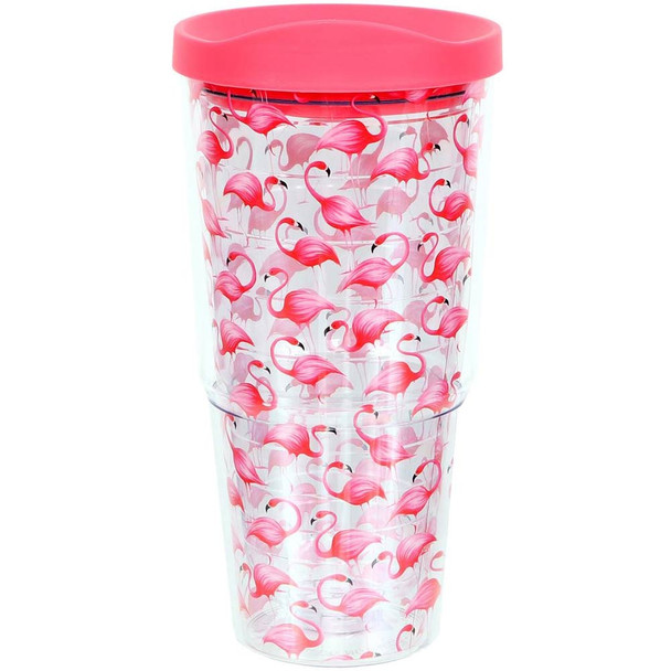 Flamingo Friends Acrylic Insulated Large 20oz Tumbler with Sippy Lid