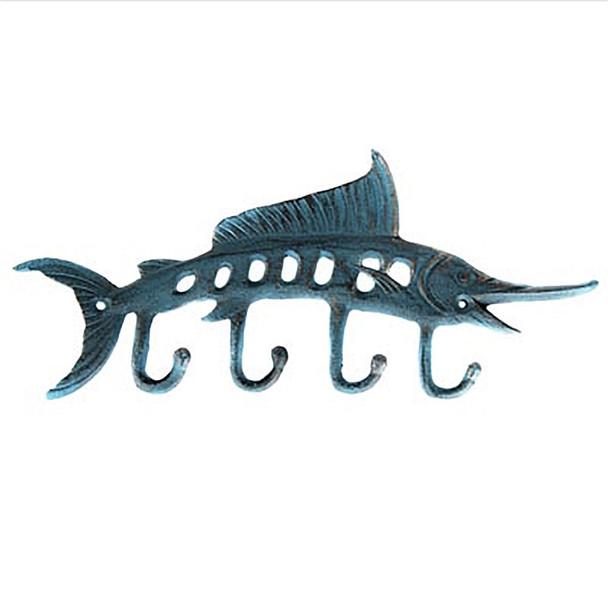 Marlin Key Hook - Verdigris Coloring - H-4621