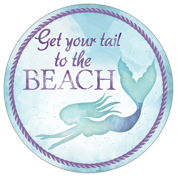 Mermaid Tail to the Beach- Stone Car Coaster CB73139
