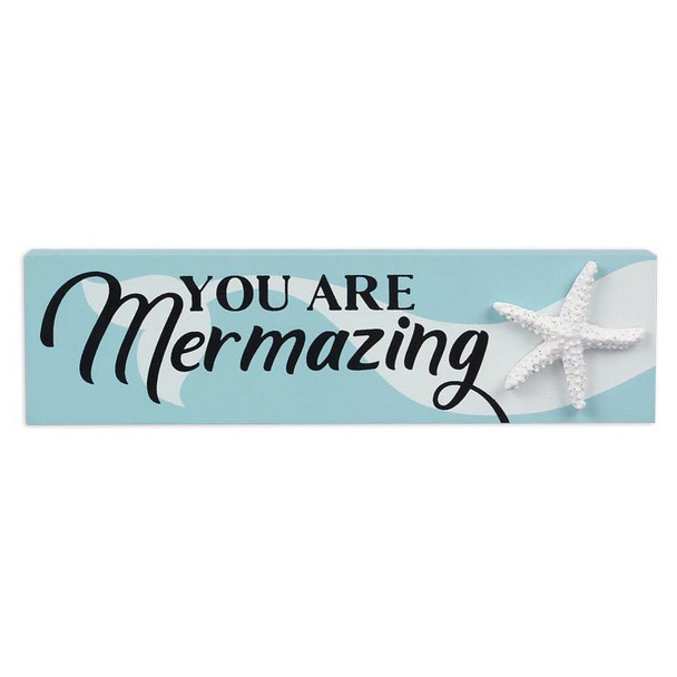 You Are Mermazing Small Wood Block Sign