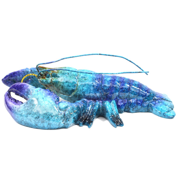 Blue Lobster Glass Ornament X-381B