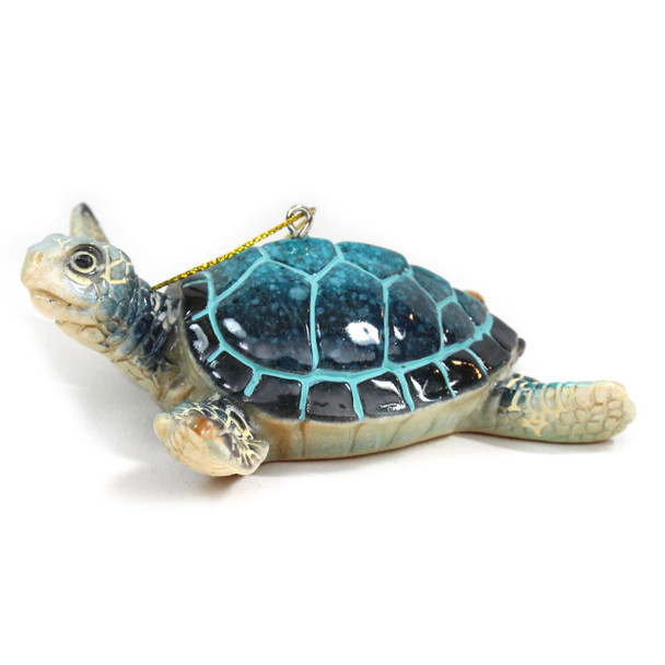Blue Sea Turtle Ornament