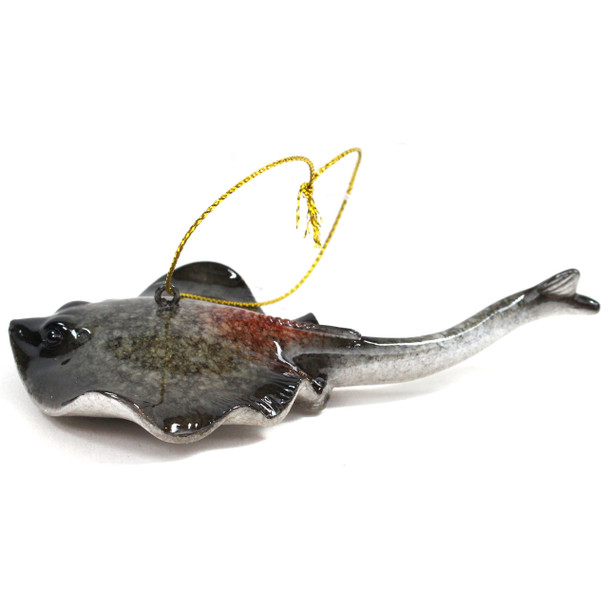 Gray Stingray Ornament